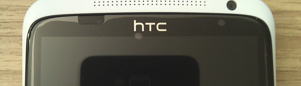 The HTC One X, reflecting the HTC HD2
