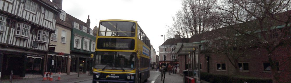 A Dublin Bus bus in Cambridge
